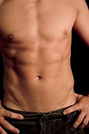 Trainierter männlicher Oberkörper